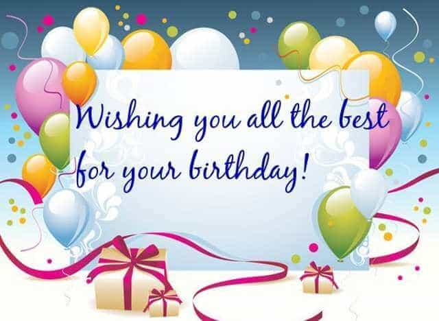 Happy birthday dear wish you all the best from the bottom for All the very best images