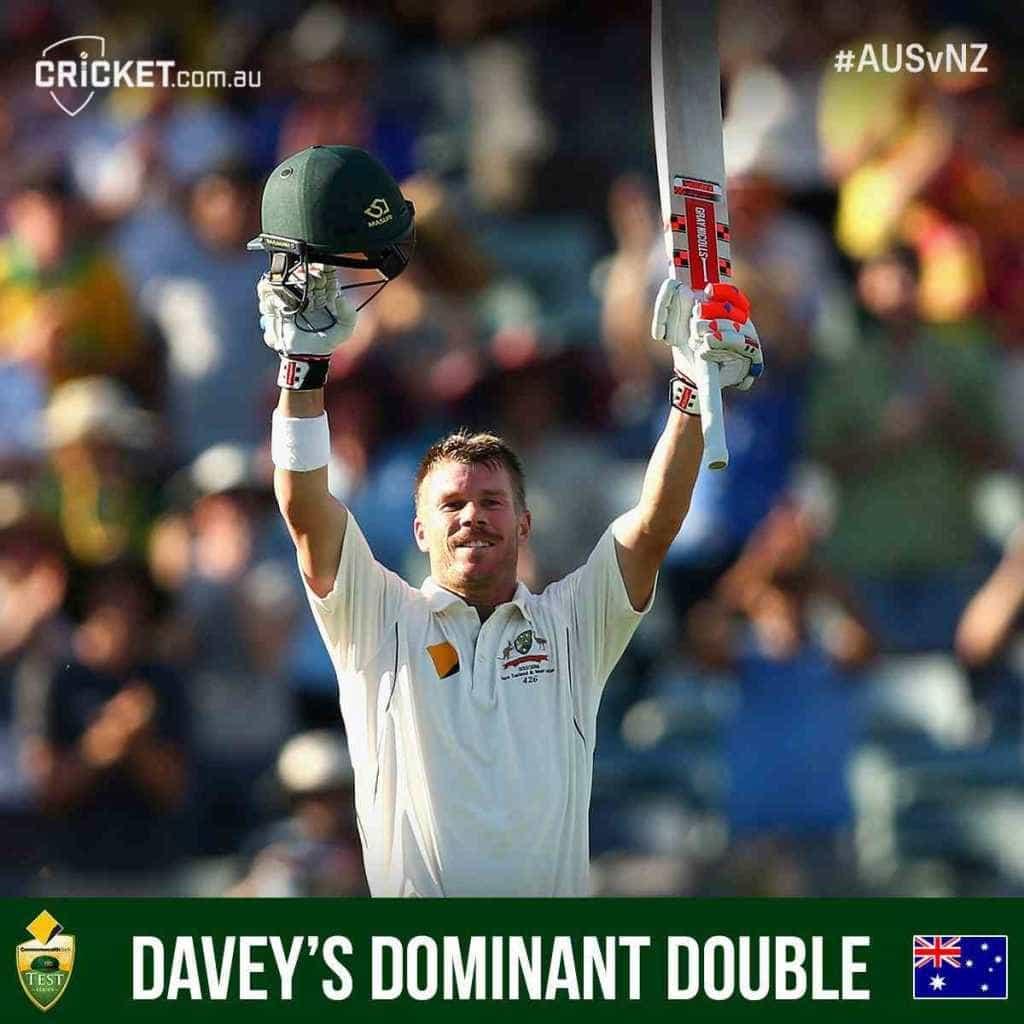 David Warner: Australian Batsman Scores Record Double Century in Test Against New Zealand