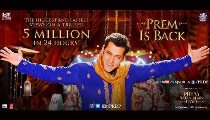 Prem Ratan Dhan Payo Official Trailer - Salman Khan & Sonam Kapoor this Diwali 2015
