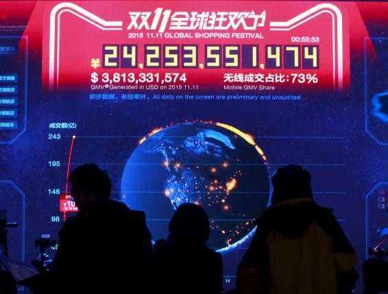 Alibaba's Singles' Day sales surge 60 percent to $14.3 billion