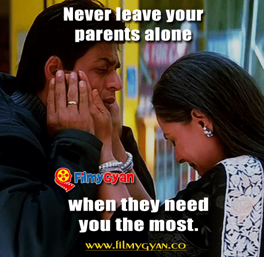 Never Leave your Parents Alone, when they need you