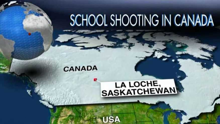 5 dead, 2 criticial after shootings in Canada school