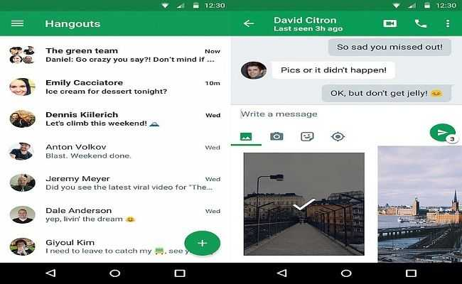 Google Hangouts latest feature - Lets you respond to messages without opening the App