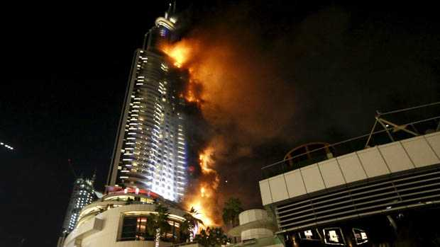 Dubai, United Arab Emirates: Fire Erupts at High-Rise Hotel in Downtown Center, Officials Say