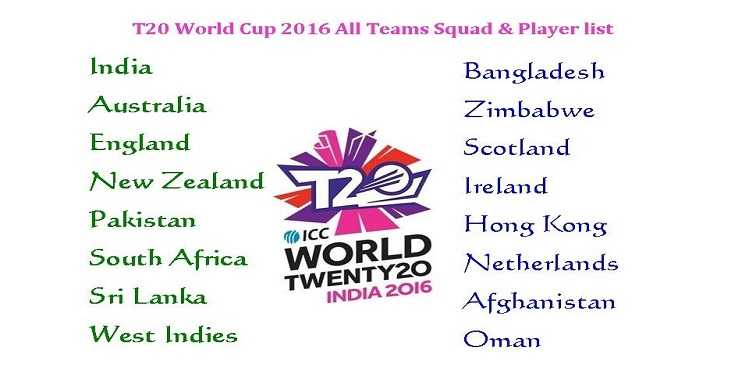 Asia Cup T20 2016 - All Teams and players list