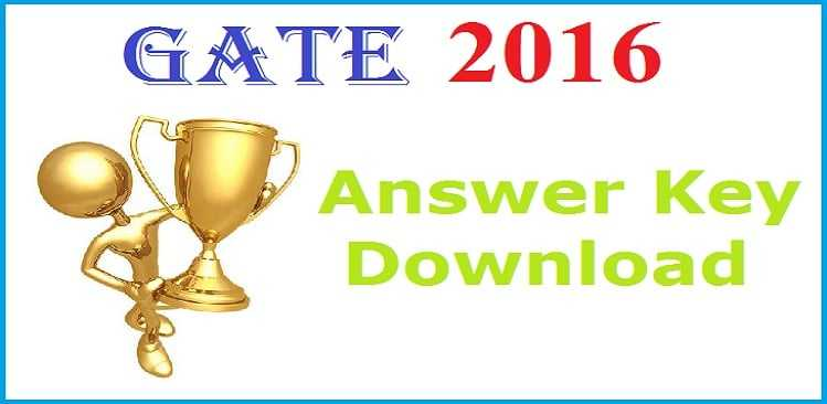 GATE 2016 Official Answer Key for MEC & ECE Exam Paper
