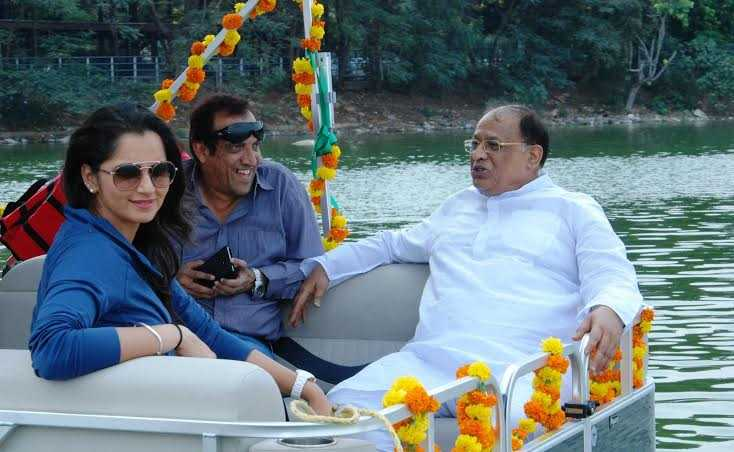 """Sania Mirza"" inaugurates Telangana Tourism as Luxury Yacht Rides at Hussain Sagar"