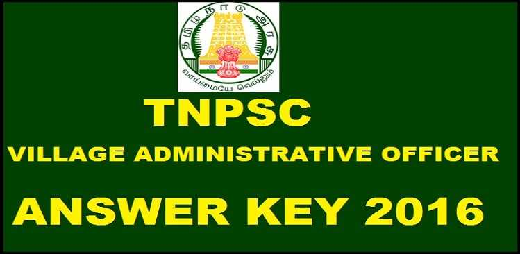 TNPSC (VAO) 2016 Cut Off Marks Declared Online