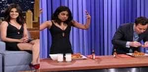 Priyanka Chopra: Actress Defeats Host Jimmy Fallon in Hot Wing Eating Contest on 'The Tonight Show'