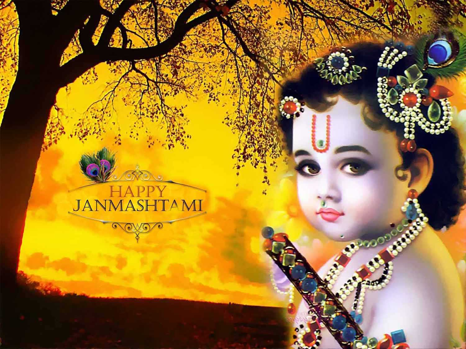krishna janmashtami animation wallpaper