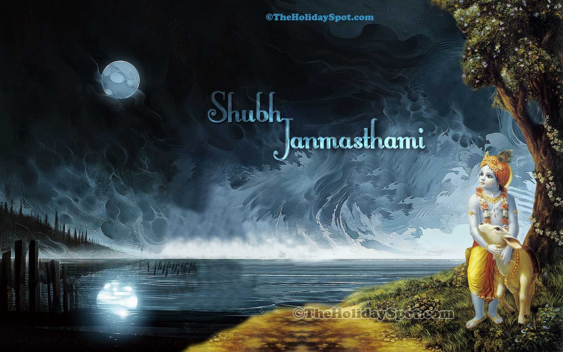 happy janmashtami wallpaper