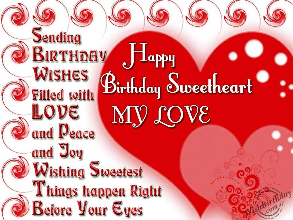 Romantic Birthday Messages Images for Girlfriend in ...