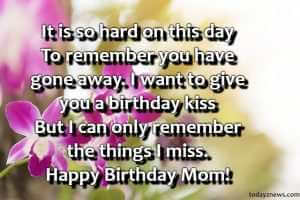 happy birthday mom who passed away