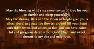 Romantic Good Night Messages to Boyfriend