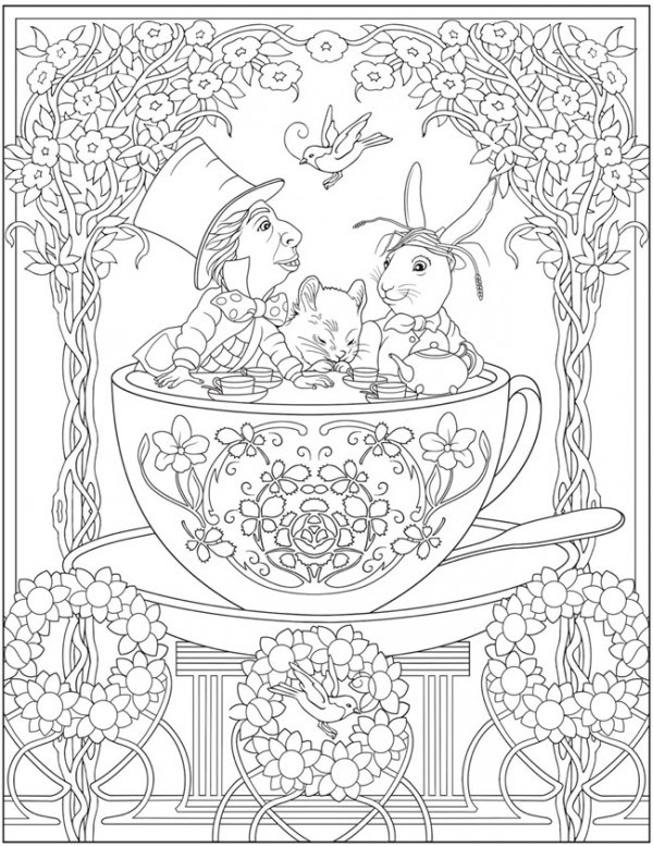 Download: Mad Tea Party Coloring Page