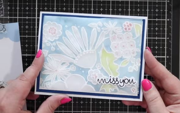 Fax Parchment Craft with Stamping