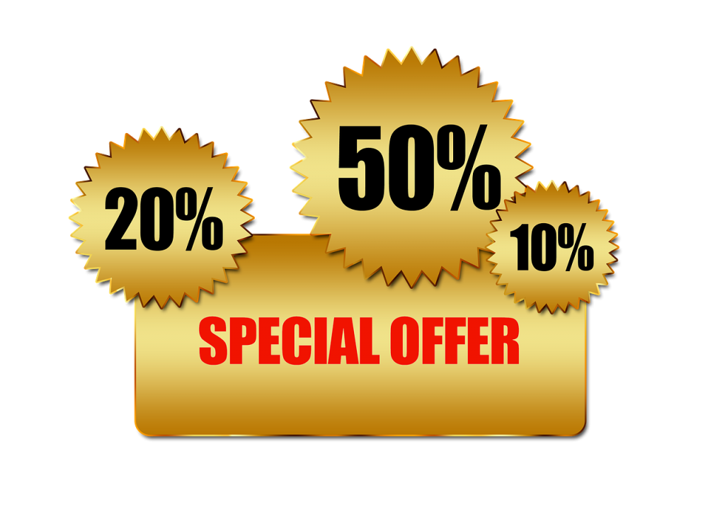 saving money on special offers