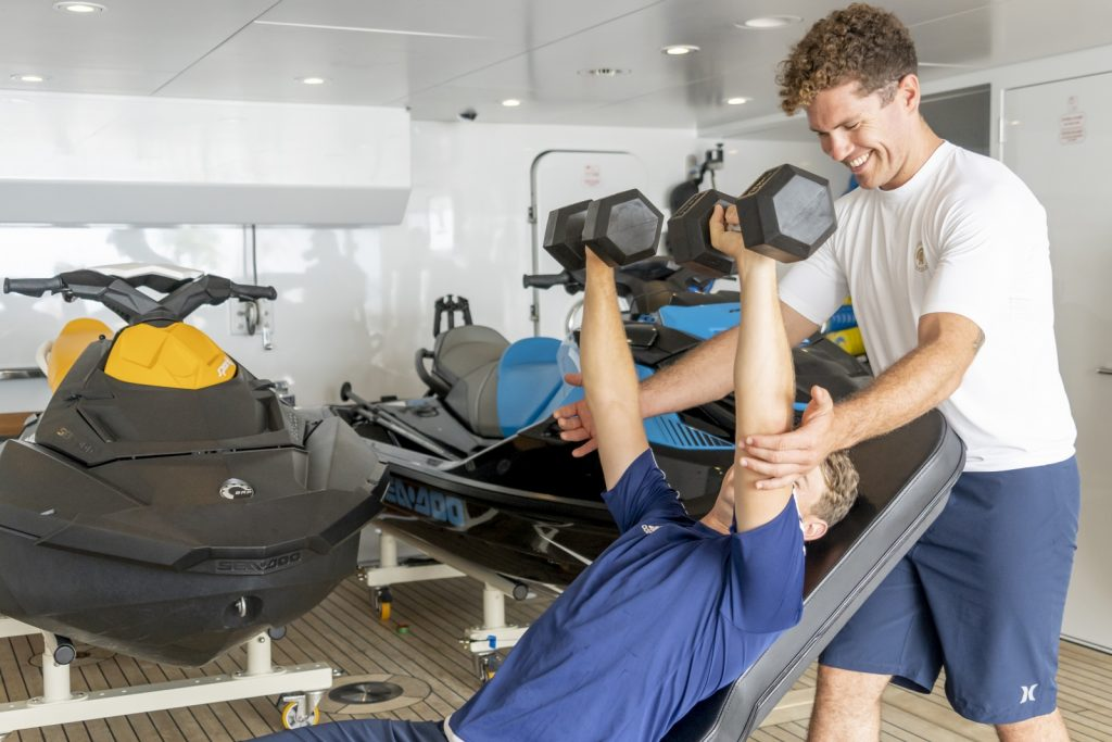 personal trainer in yacht