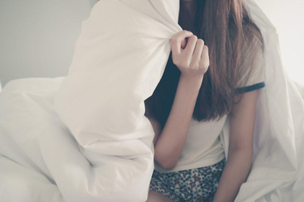 women inside blanket