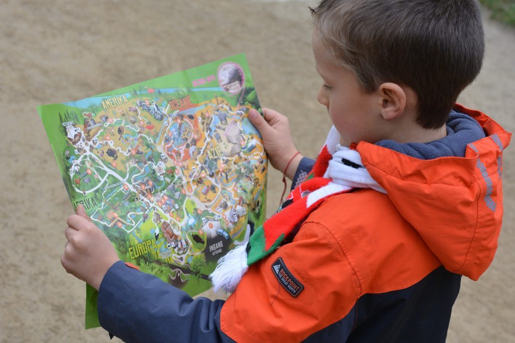 Child with map