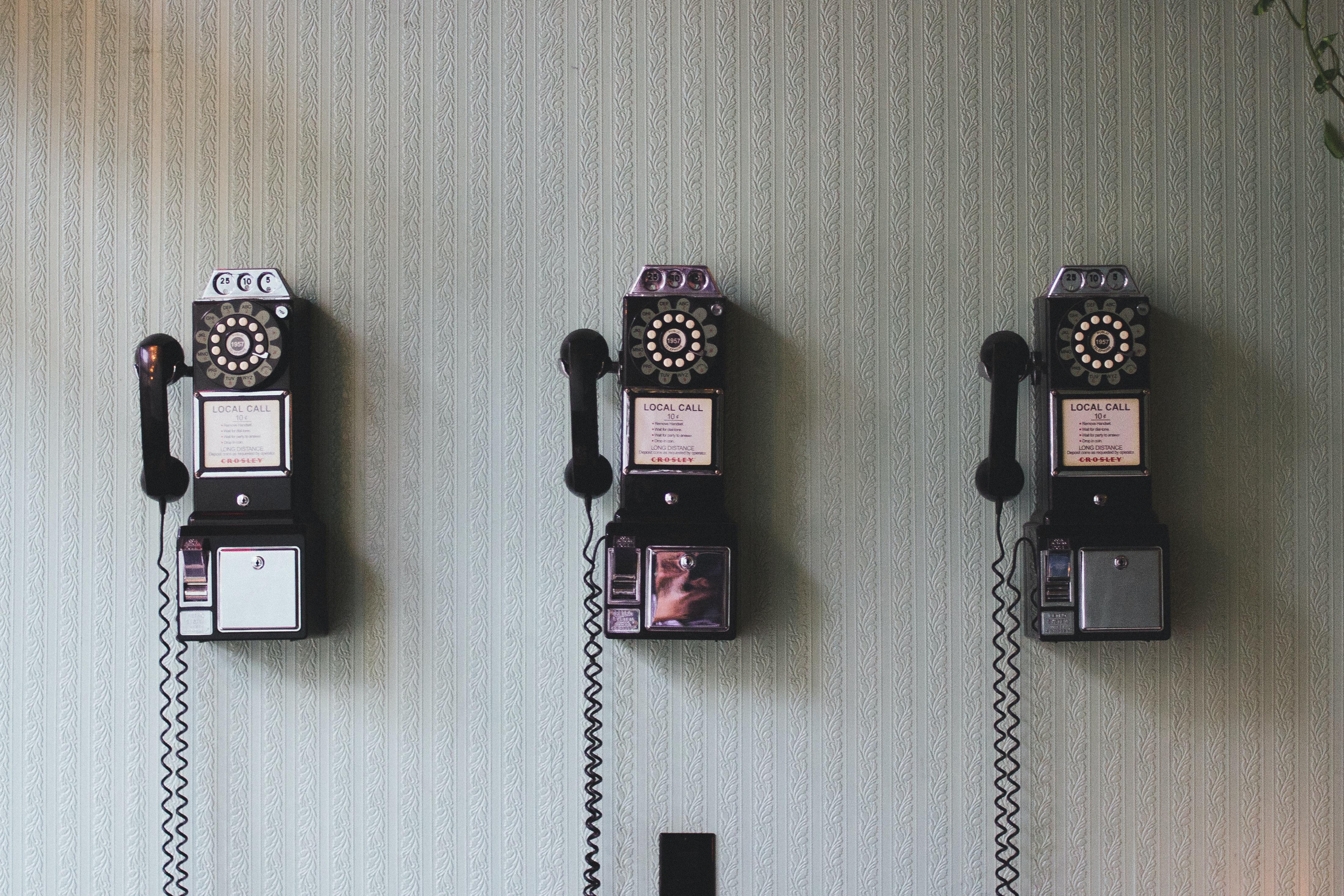 3 Pay phones
