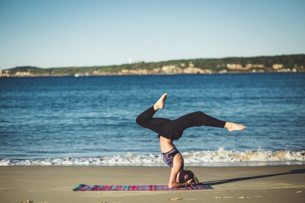Yoga on a beach