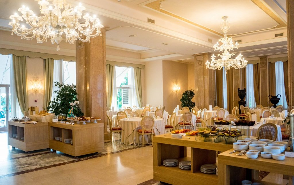 Luxury hotel restaurant